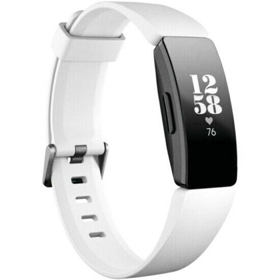 Fitbit Inspire HR Fitness Tracker  White/Black Size S/P & L/G