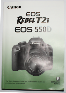 canon eos rebel t2i 550d digital slr camera instruction manual rh ebay com canon eos rebel t2i manual download canon eos rebel t2i manual pdf