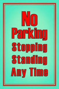 No-Parking-Panneau-Metallique-Plaque-Voute-Metal-Etain-Signer-20-X-30-cm-CC1009