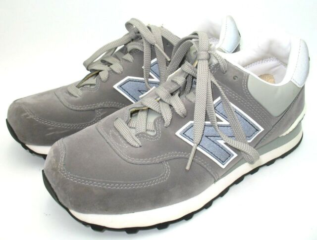New Balance 574 Grey Suede Leather Running Sneaker Shoes Mens Sz 7 EE