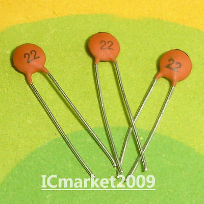 1000 PCS  CERAMIC CAPACITOR 22pF/50V 22 pF