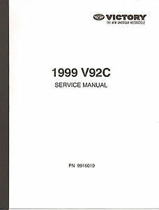1999 victory v92c v92 repair service manual on cd ebay rh ebay com 1999 victory v92c manual 2001 victory v92c manual