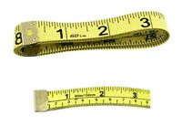 Set Of 6, 60 Soft Fabric Tape Measures, Dual-sided Standard Metric, Easy Read