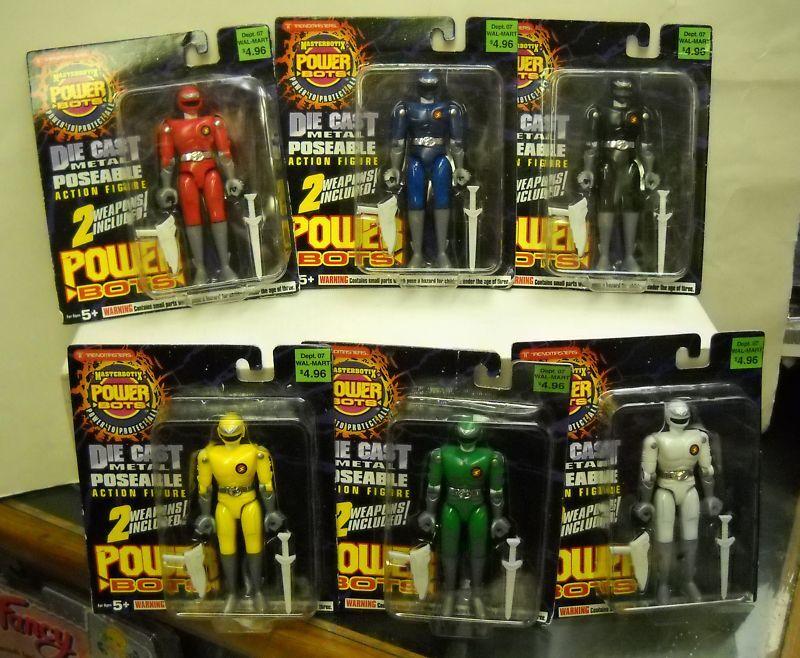 NRFC Trendmasters Set of 6 Masterbotix Power Bots (Power Ranger Clones)