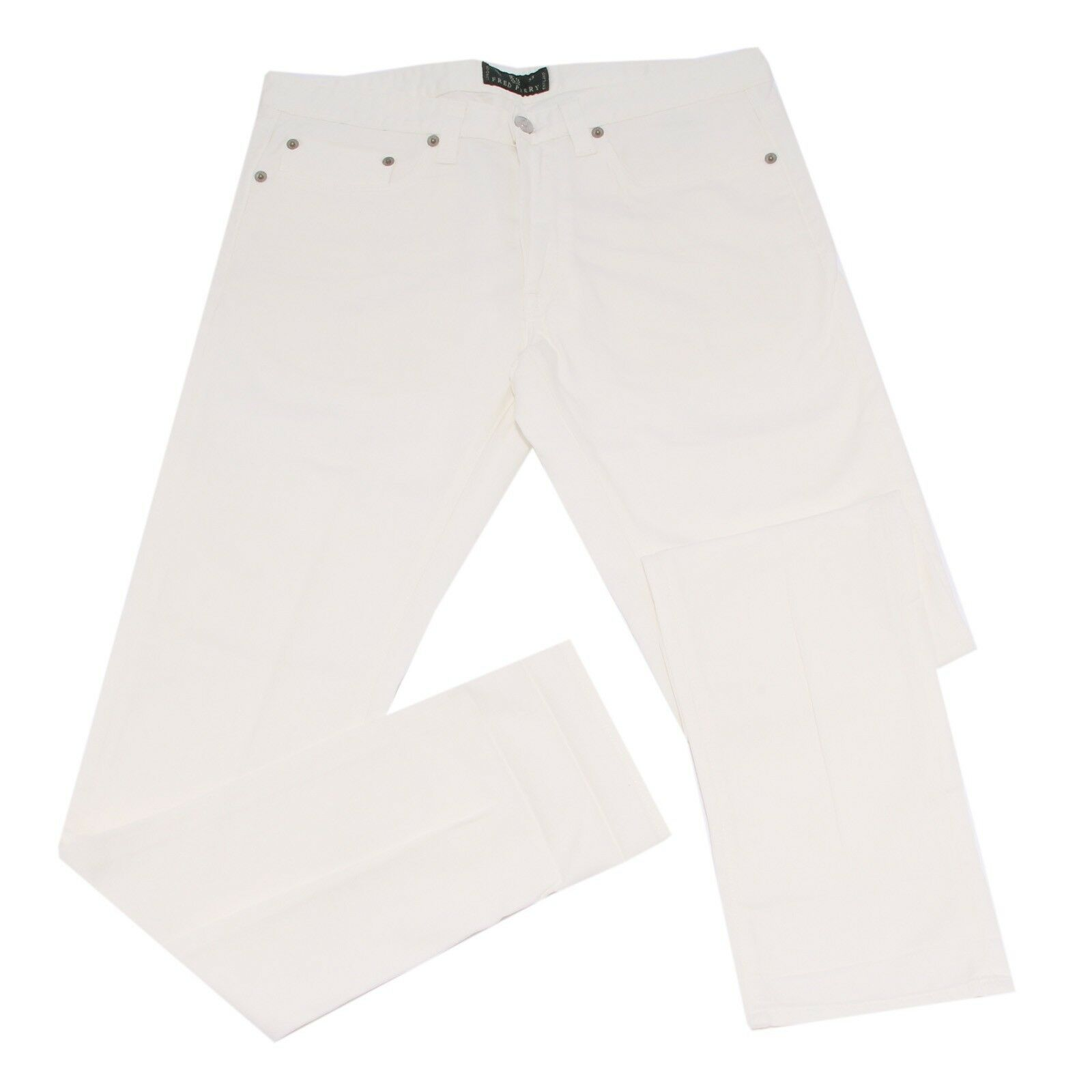 7911G jeans uomo bianco FRED PERRY PERRY PERRY denim  pantaloni trousers men f30f98