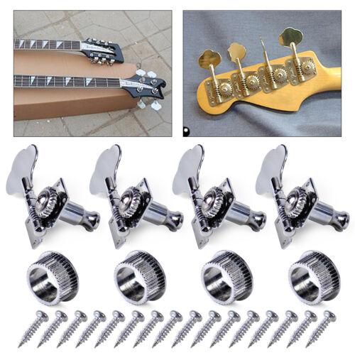 4x Chrom 4R Tuning Peg Bass Guitar Gitarre String Mechaniken Tuner Kopf Heads