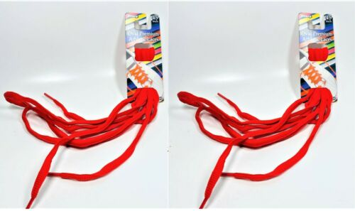 45 in. Details about  /LOT OF 2 Allary Oval Premium Athletic Laces RED