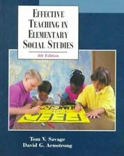 Effective Teaching in Elementary Social Studies (4th Edition), Tom V. Savage, Da