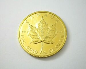 1986 Canadian Maple Leaf .9999 Fine Gold 1/4-ounce Coin Proof-Like Quality