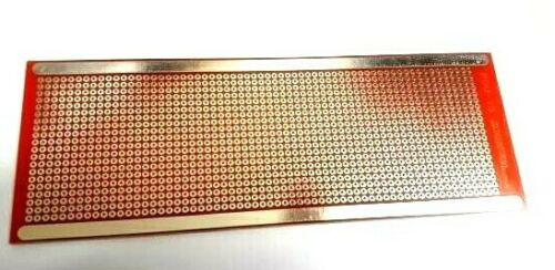 Universal PCB Laminate Board THT 1260 Trous 64 x 174 mm Project Board Rouge