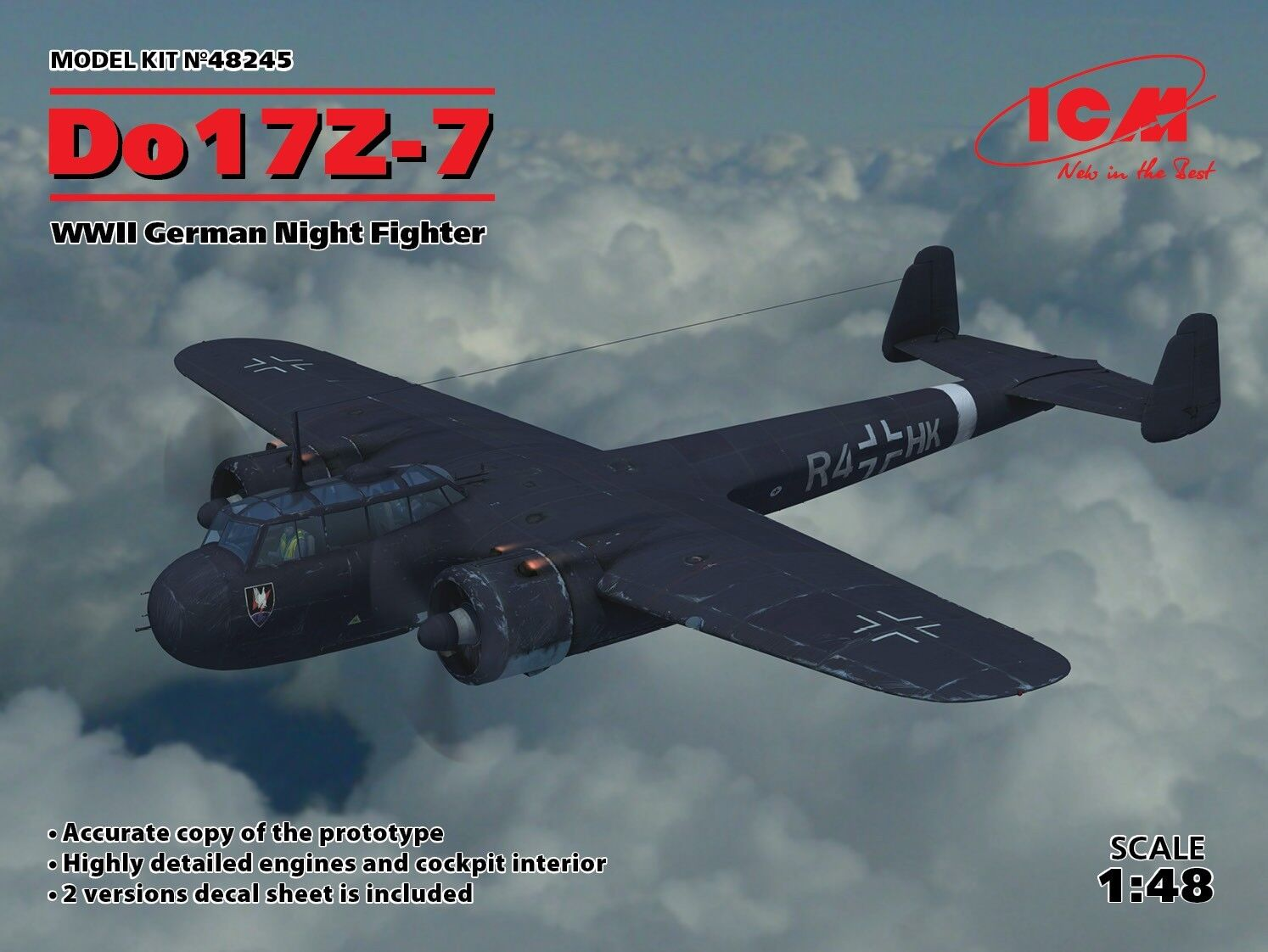 ofreciendo 100% Icm 1 48 Dornier Do-17Z-7 Seconda Seconda Seconda Guerra Mondiale Tedesco Notte Fighter  48245  suministro de productos de calidad