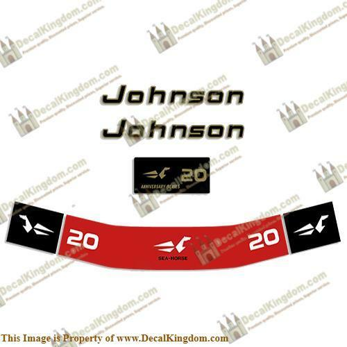 Johnson 1972 Outboard Decal Kit (Multiple Größes Available) 3M Marine Grade