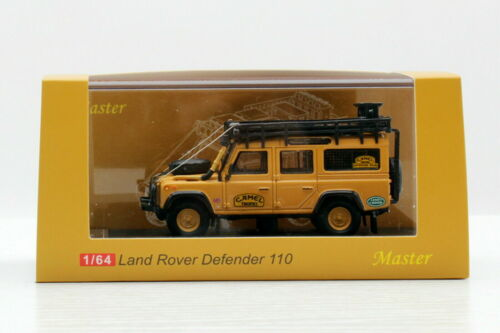 1//64 Scale Land Rover Defender 110 Camel Trophy Yellow Diecast Car Toy Gift