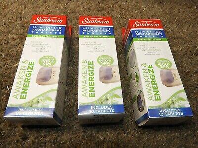 Sunbeam Eucalyptus Mint Humidifier Aromatherapy Tablets Awake Energize 3 Boxes | eBay