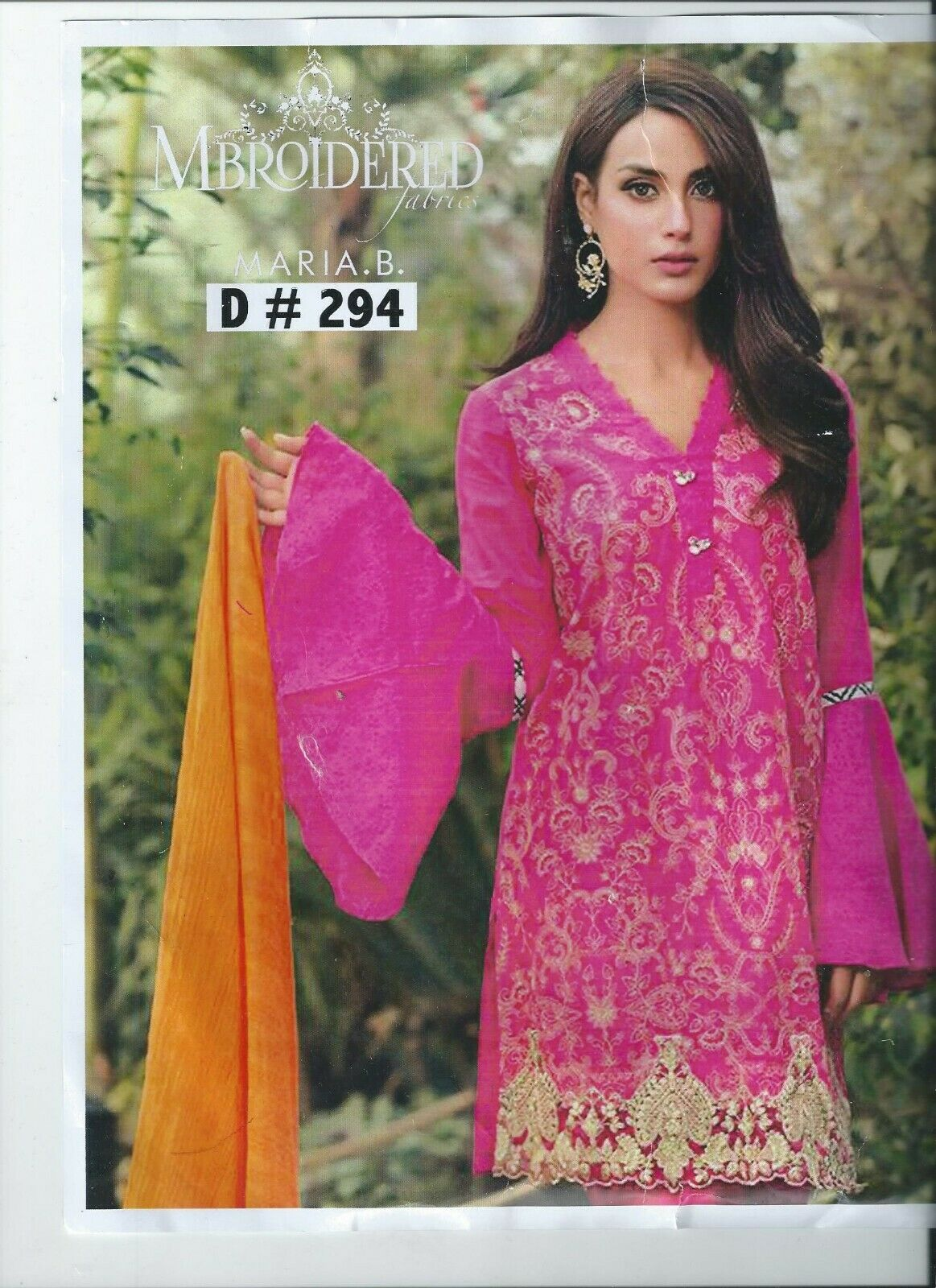 Maria b Embroidered Lawn Unstitched Salwar Kameez 2020 to clear summer