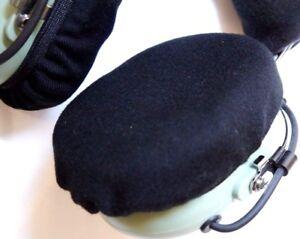 David Clark Pilot Aviation Headset EARSEAL Black Cotton Covers Ear Seals Hygiene