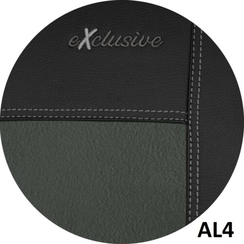 VOLKSWAGEN T6 2015 PRESENT ECO LEATHER /& ALICANTE SEAT COVERS MADE TO MEASURE