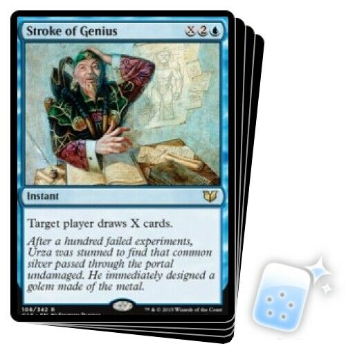 STROKE OF GENIUS X4 Comandante 2015 Magic The Gathering em estado perfeito Cartão