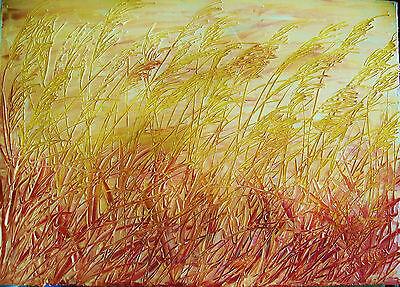 quadro moderno dipinto a mano olio su tela 70x50 natura paesaggio M. RANCURA