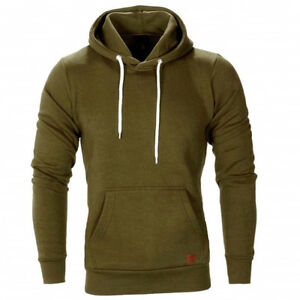 Men-Hooded-Hoodie-Coat-Jackets-Outwear-Sweatshirt-Fit-Jumper-Loose-Pullover-Tops