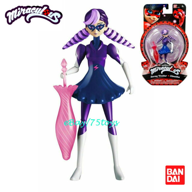 Bandai Miraculous Stormy Weather Ladybug Plastic Figure Zag Cartoon Character 5""