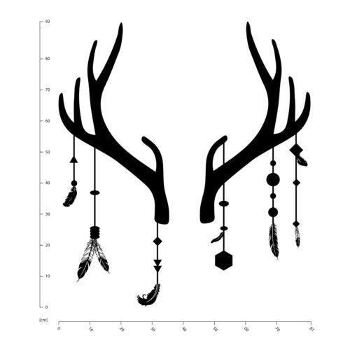 Antler Deer Dream Catcher Wall Sticker WS-44191