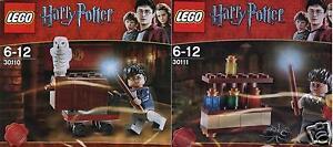 2x-LEGO-Harry-Potter-30110-Trolley-Eule-30111-Labor-Promo-Pack-selten-NEU-amp-OVP