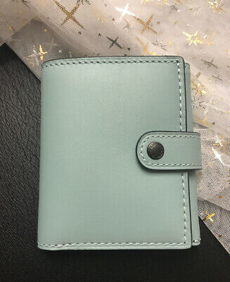 NWT Coach 1941 Small Trifold Wallet Glovetanned Leather Seafoam 58851 $195