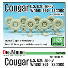 DEF. MODEL, U.S Cougar 6x6 JERRV Sagged Wheel set for Panda, DW35087, 1:35