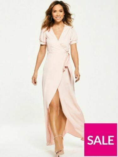 Myleene Klass Midi Lenght Wrap Dress In bluesh Pink Colour Size 14