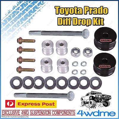 "Toyota Prado 120 Series Front Direct Bolt In Diff Drop Kit suit STD 2"" - 3"" Lift"