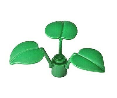 Plant Green Flower w// 3 Large Leaves x5-21303 4226 4118 NEW LEGO PLANTS