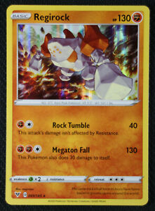 Pokemon Card   REGIROCK   Holo Rare  089//185  VIVID VOLTAGE  *MINT* 89//183