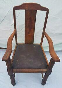 Antique Wooden Carver Chair Ebay