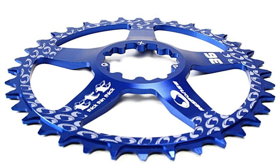 36 Zähne Ritzel - Kettenblatt für Sram GXP Direct Mount, X-SYNC blue.