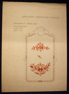 Orig-Entwurfzeichung-Porzellanmanufaktur-Meissen-034-INDI-Coral-rojo-034-alrededor-de-1930-sf