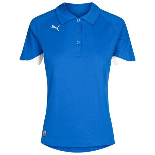 PUMA PowerCat 1.1.0 Damen Polo-Shirt Sport Fitness Fußball 652099-02 blau neu