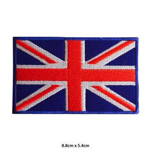 UK  Union Jack National Flag Embroidered Patch Iron on Sew On Badge