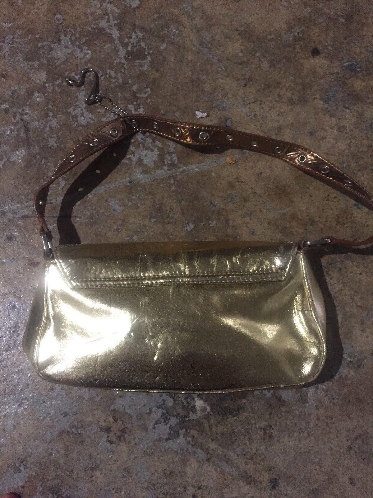 Fetish Clutch Bag Purse gold silver studs cooper … - image 9