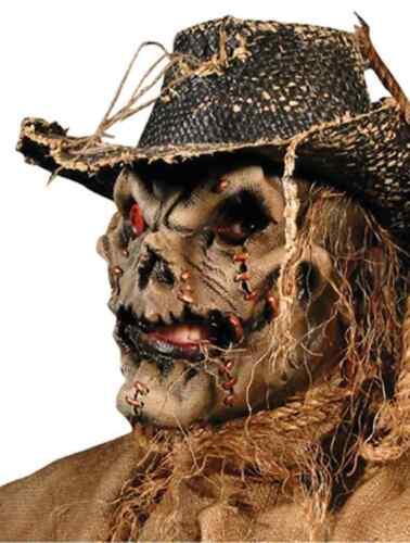 Scarecrow Scary Evil Killer Haunted Halloween Costume Makeup Latex Prosthetic