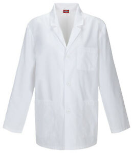 "Dickies 31"" Men's Lab Coat Antimicrobial 81404A WHWZ White Free Shipping"