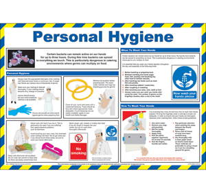 Personal Hygiene Laminated Poster 590mm x 420mm P314