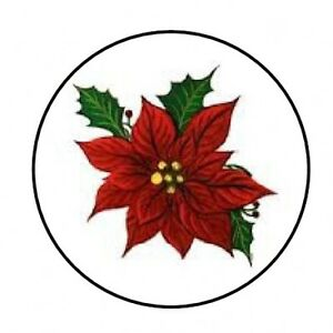 48-CHRISTMAS-POINSETTIA-ENVELOPE-SEALS-LABELS-STICKERS-1-2-034-ROUND