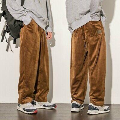 Men Linen Cotton Blend Loose Waist Elastic Straight Leg Casual Oversize Pants
