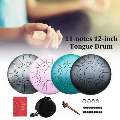 Handpan Drum with Bag Finger Picks Book 8 Notes 6-8 Inches White ...