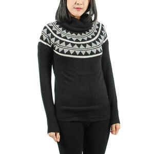 b7d6139555d23 Women's PUMA Knitted Turtleneck Sweater Black/Gray/White size XS ...