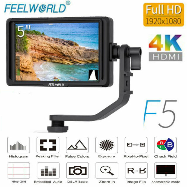 "Feelworld F6S HDMI 5/""IPS Screen 4K Full HD Monitor Camera Monitor for DSLRCamera"