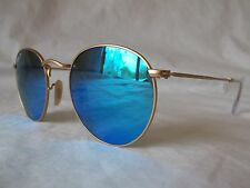 RAY BAN SUNGLASSES RB3447 112/4L MATTE GOLD BLUE MIRROR POLAR 50-21-145 NEW AUTH