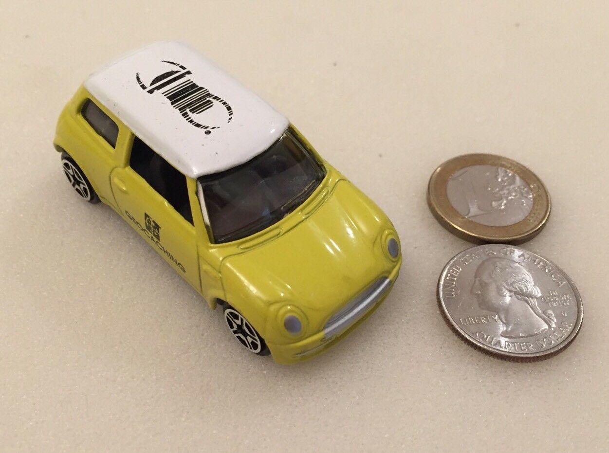 Mini Cooper Travel Bug Geocoin Yellow Unactivated