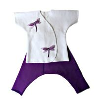 Darling Dragonfly Baby Girl Clothing Set 4 Preemie And Newborn Sizes.